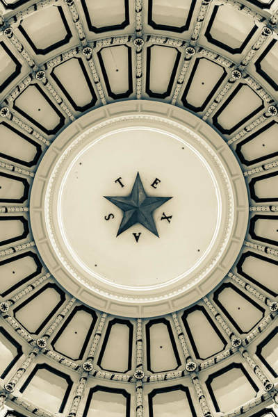 Photograph - Austin Texas Dome Of State Capitol - Sepia Edition by Gregory Ballos