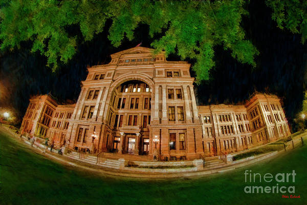 Photograph -  Austintexas State Capitol A Green Night  by Blake Richards