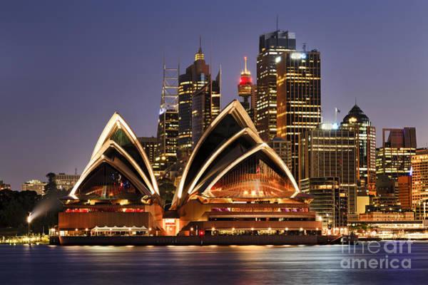 Wall Art - Photograph - Australia Iconic Sydney City Landmarks by Taras Vyshnya