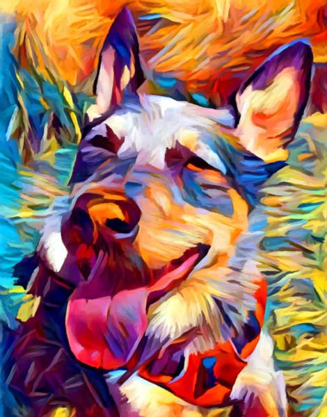 Wall Art - Painting - Australian Cattle Dog 2 by Chris Butler