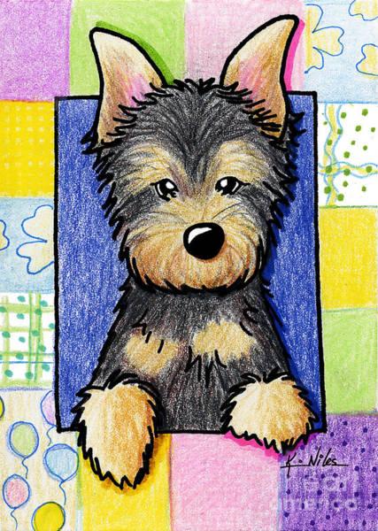 Wall Art - Drawing - Australian Silky Terrier Pup by Kim Niles