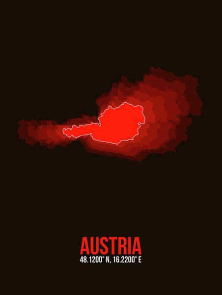 Austria Radiant Map I Art Print