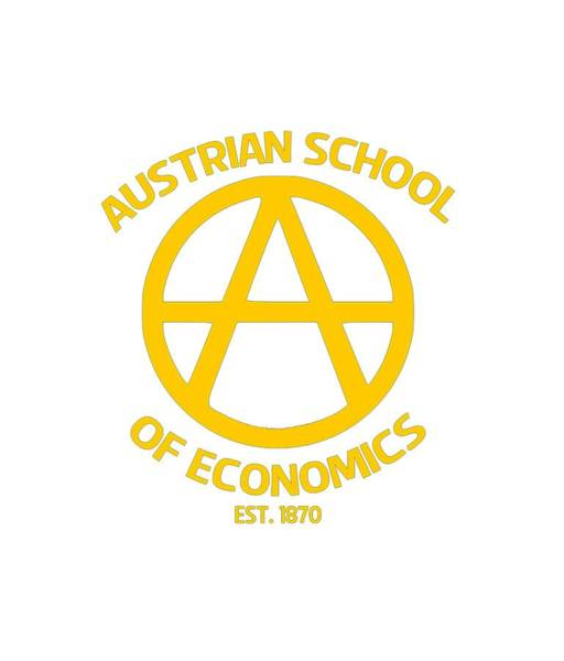Bitcoin Drawing - Austrian School by Ill Fill