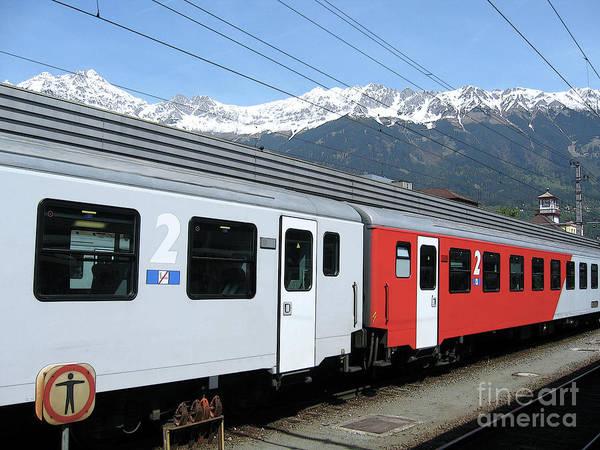 Photograph - Austrian Train Travel by Ann Horn