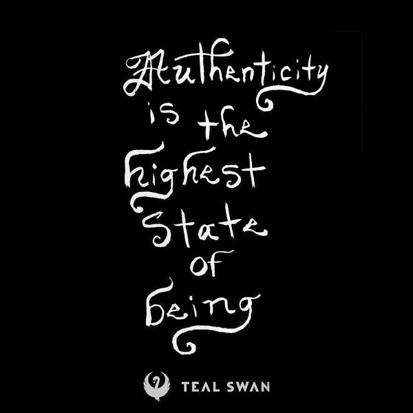 Painting - Authenticity Quote by Teal Eye Print Store