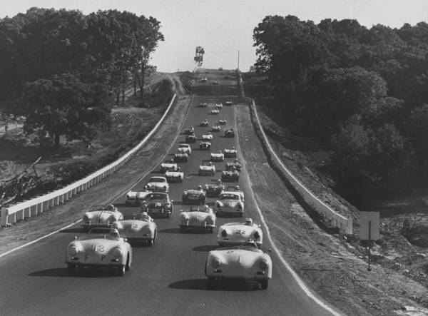 1958 Photograph - Auto Race by Frank Scherschel