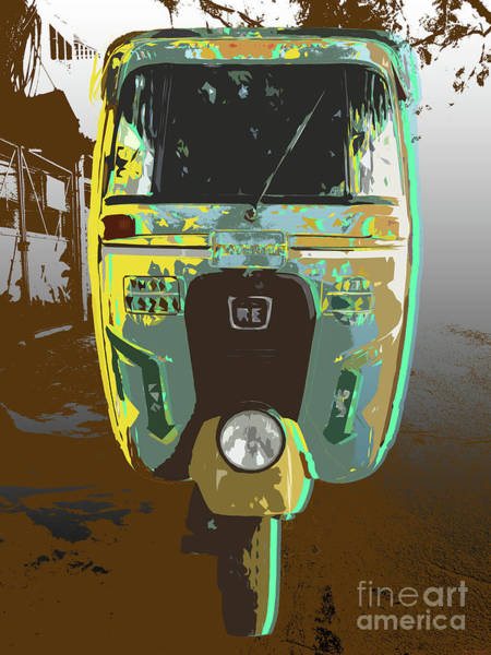 Digital Art - Auto Rickshaw Pop Art by Jean luc Comperat