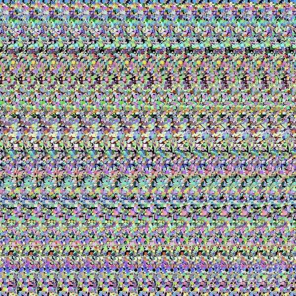 Digital Art - Autostereogram Dna Random 2 by Russell Kightley