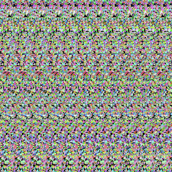 Digital Art - Autostereogram Dna Random 3 by Russell Kightley