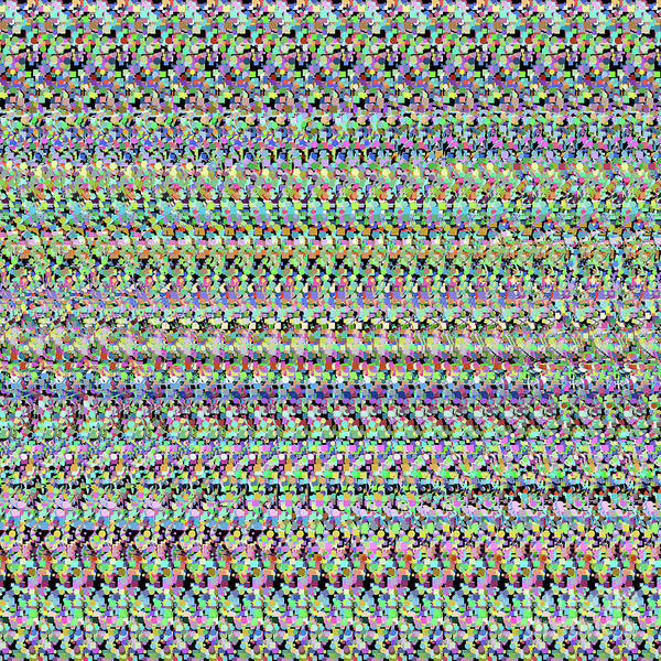 Digital Art - Autostereogram Rotavirus Multicoloured by Russell Kightley