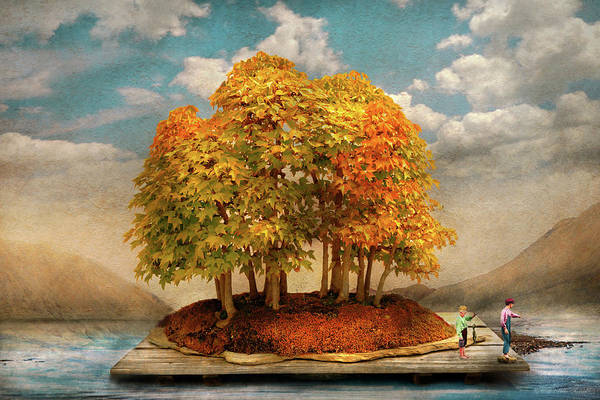 Photograph - Autumn - A World Of Our Own by Mike Savad