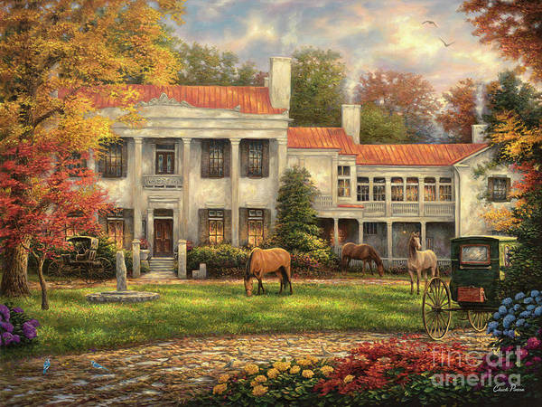 Wall Art - Painting - Autumn Afternoon At Belle Meade by Chuck Pinson