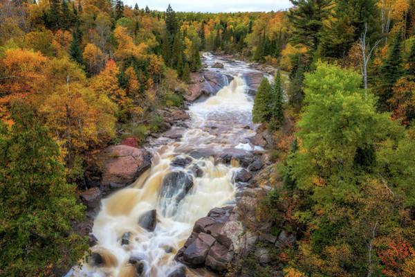 Photograph - Autumn At Beaver River Falls by Susan Rissi Tregoning