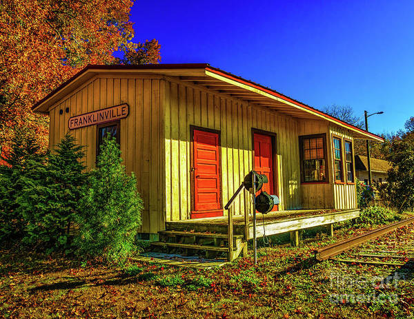 Photograph - Autumn At Franklinville Train Station by Nick Zelinsky