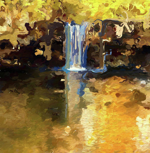 In Motion Painting - Autumn At Ludlow Falls Ohio by Dan Sproul