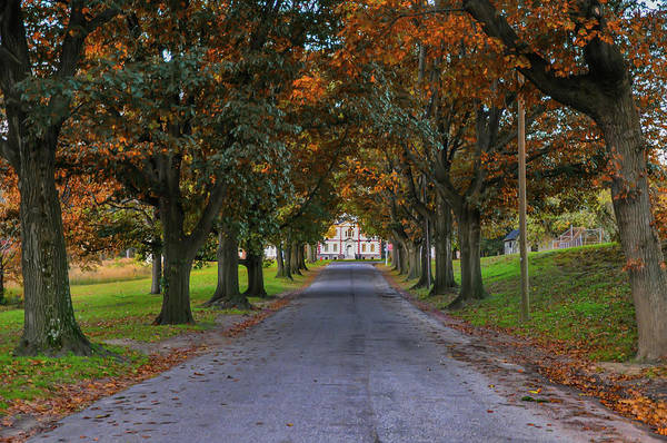 Wall Art - Photograph - Autumn At Mount Pleasant Mansion - Philadelphia Pa by Bill Cannon