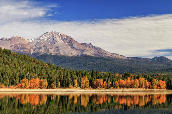 Photograph - Autumn At Mount Shasta by James Eddy