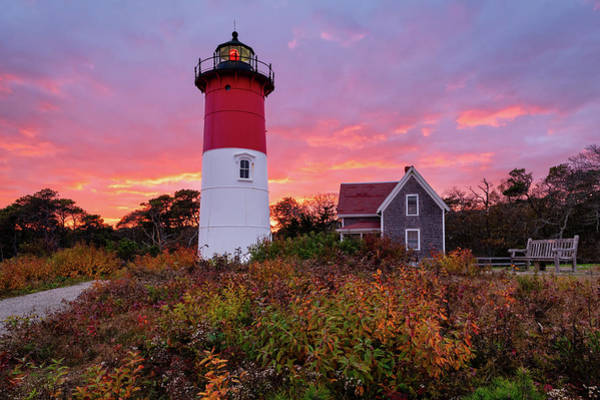Photograph - Autumn At Nauset Light by Michael Blanchette