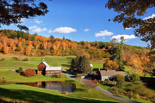 Vermont Photograph - Autumn At Sleepy Hollow Farm by Danita Delimont