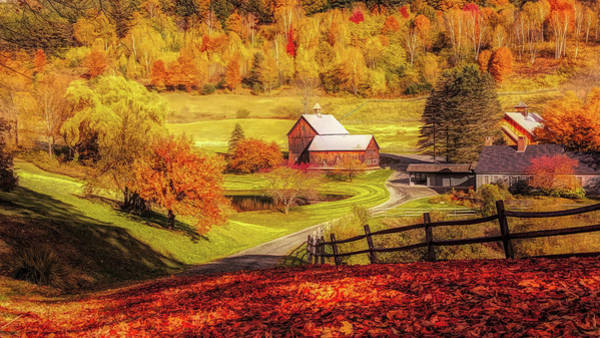 Photograph - Autumn At Sleepy Hollow Pomfret by Jeff Folger