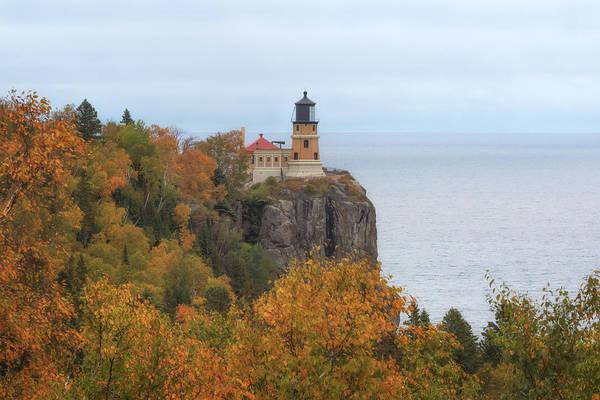 Photograph - Autumn At Split Rock Lighthouse by Susan Rissi Tregoning