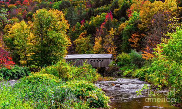 Photograph - Autumn At The Comstock Covered Bridge by Scenic Vermont Photography