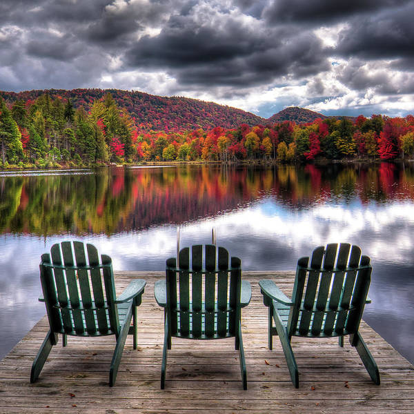 Photograph - Autumn At The Lake by David Patterson