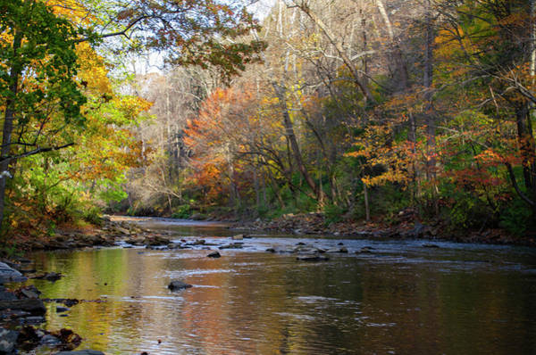 Wall Art - Photograph - Autumn At The Wissahickon Creek - Philadelphia by Bill Cannon
