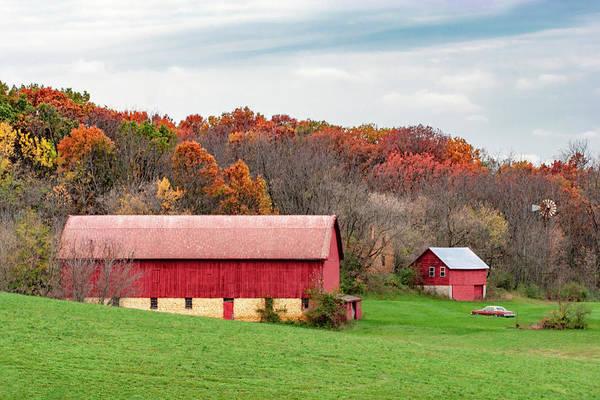 Photograph - Autumn Barn Yard by Todd Klassy