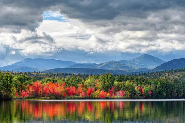 Photograph - Autumn Blaze, Chocorua Lake Nh by Michael Hubley