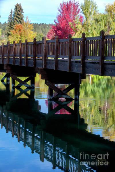 Photograph - Autumn Bridge by David Millenheft