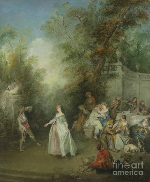 Wall Art - Painting - Autumn By Nicolas Lancret by Nicolas Lancret