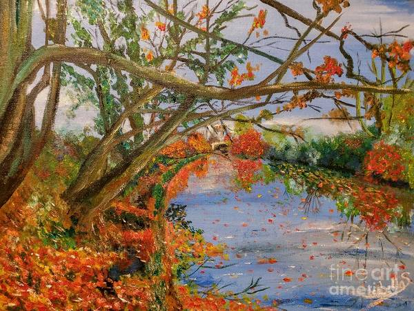 Painting - Autumn By The River by Abbie Shores