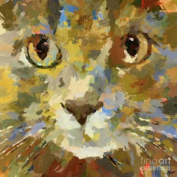 Wall Art - Painting - Autumn Cat by Dragica Micki Fortuna