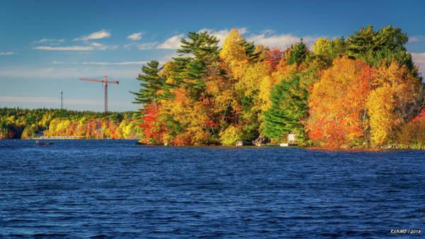 Halifax Nova Scotia Digital Art - Autumn Colors In Kearney Lake by Ken Morris