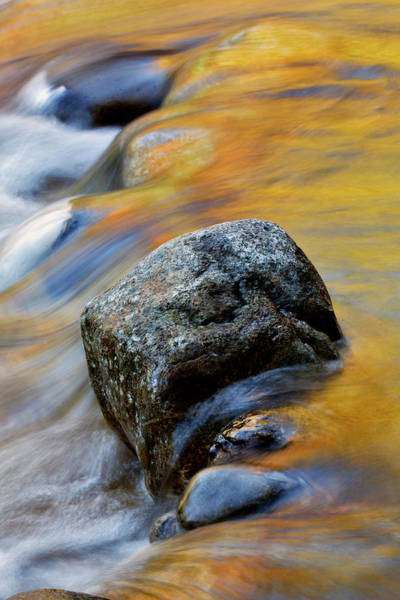 Franconia Notch Wall Art - Photograph - Autumn Colors Reflected In Small by Adam Jones