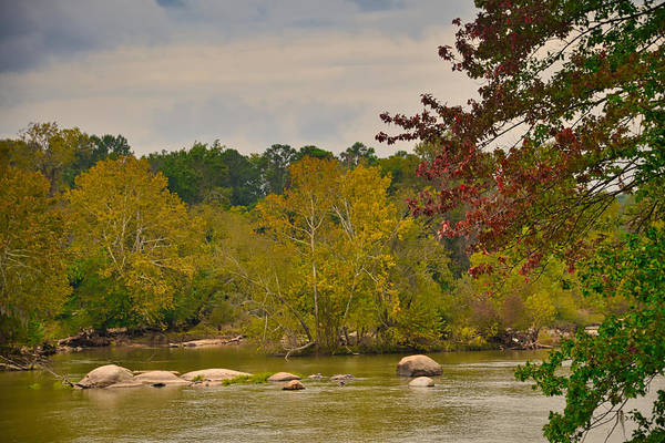Wall Art - Photograph - Autumn Comes To The River by Linda Brown