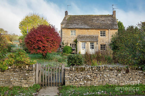Photograph - Autumn Cottages In Upper Slaughter by Tim Gainey