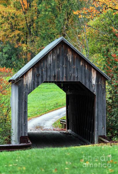 Wall Art - Photograph - Autumn Covered Bridge by John Greim