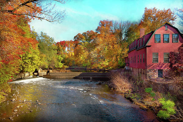 Photograph - Autumn - Cranford, Nj - Droescher's Mill by Mike Savad