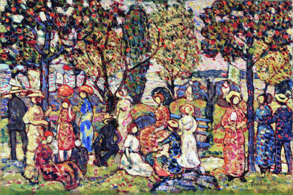 Wall Art - Painting - Autumn - Digital Remastered Edition by Maurice Brazil Prendergast