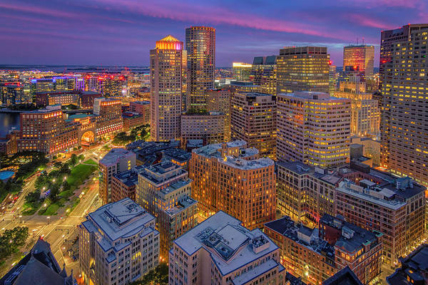 Photograph - Autumn Evening In Boston by Kristen Wilkinson