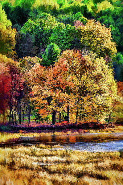 Wall Art - Photograph - Autumn Falls At Peaks Of Otter Fx by Dan Carmichael