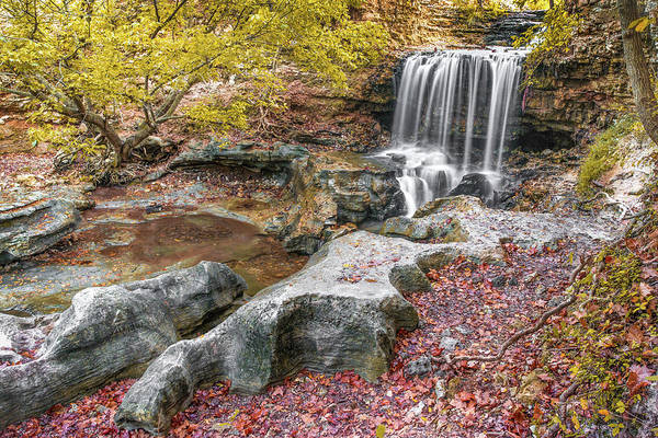 Photograph - Autumn Falls Of Tanyard Creek - Bella Vista Arkansas by Gregory Ballos