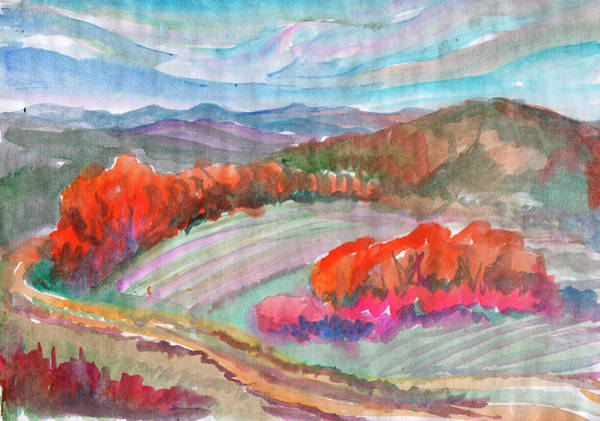 Painting - Autumn Fields by Irina Dobrotsvet