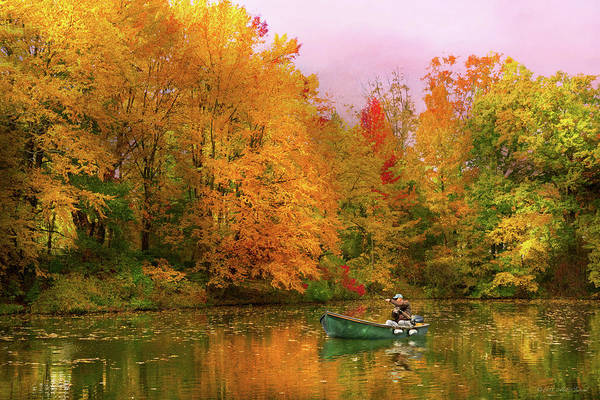 Photograph - Autumn - Fishing - Simply Paradise by Mike Savad