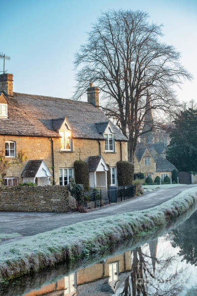 Photograph - Autumn Frost In Lower Slaughter Cotswolds by Tim Gainey