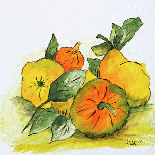 Painting - Autumn Fruits by Jutta Maria Pusl
