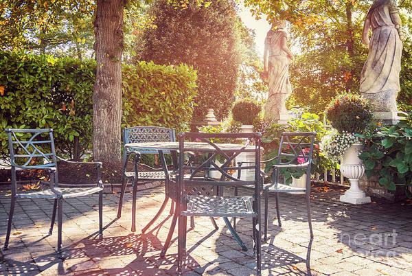Photograph - Autumn Garden Cafe  by Ariadna De Raadt