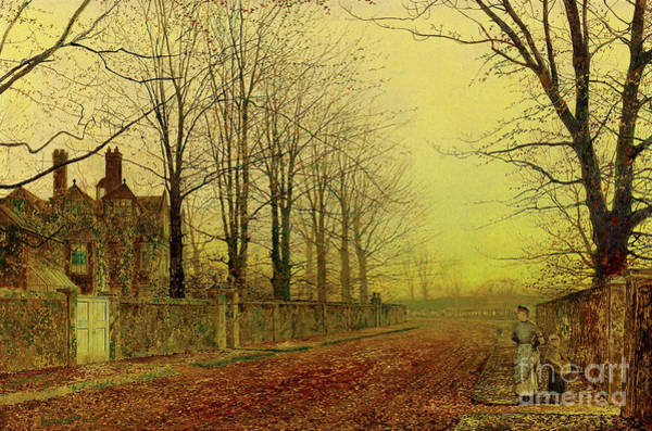 Wall Art - Painting - Autumn Glory, 1887 by John Atkinson Grimshaw